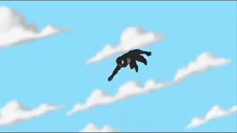 Грандиозный Человек паук в чёрном костюме под музыку