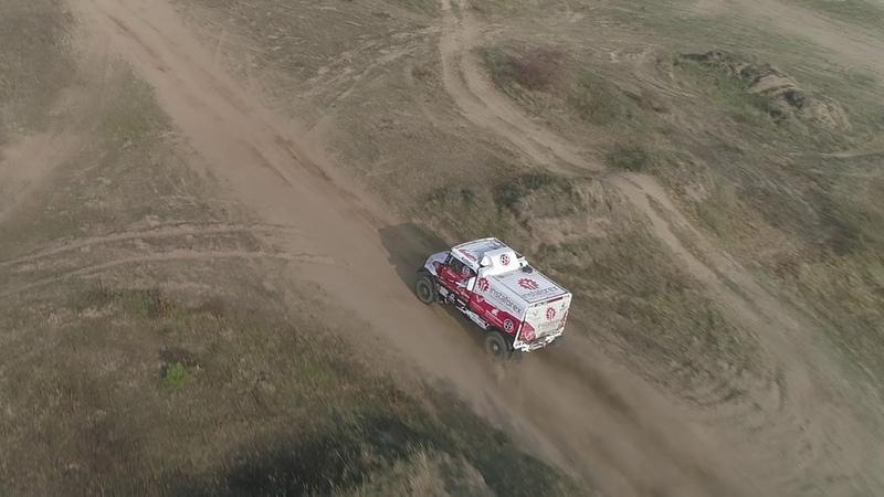 Pre start of Rally Dakar 2019 by Instaforex Loprais Team Tatra truck full gas