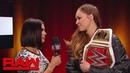 Ronda Rousey rips into The Man Becky Lynch Raw Nov 12 2018