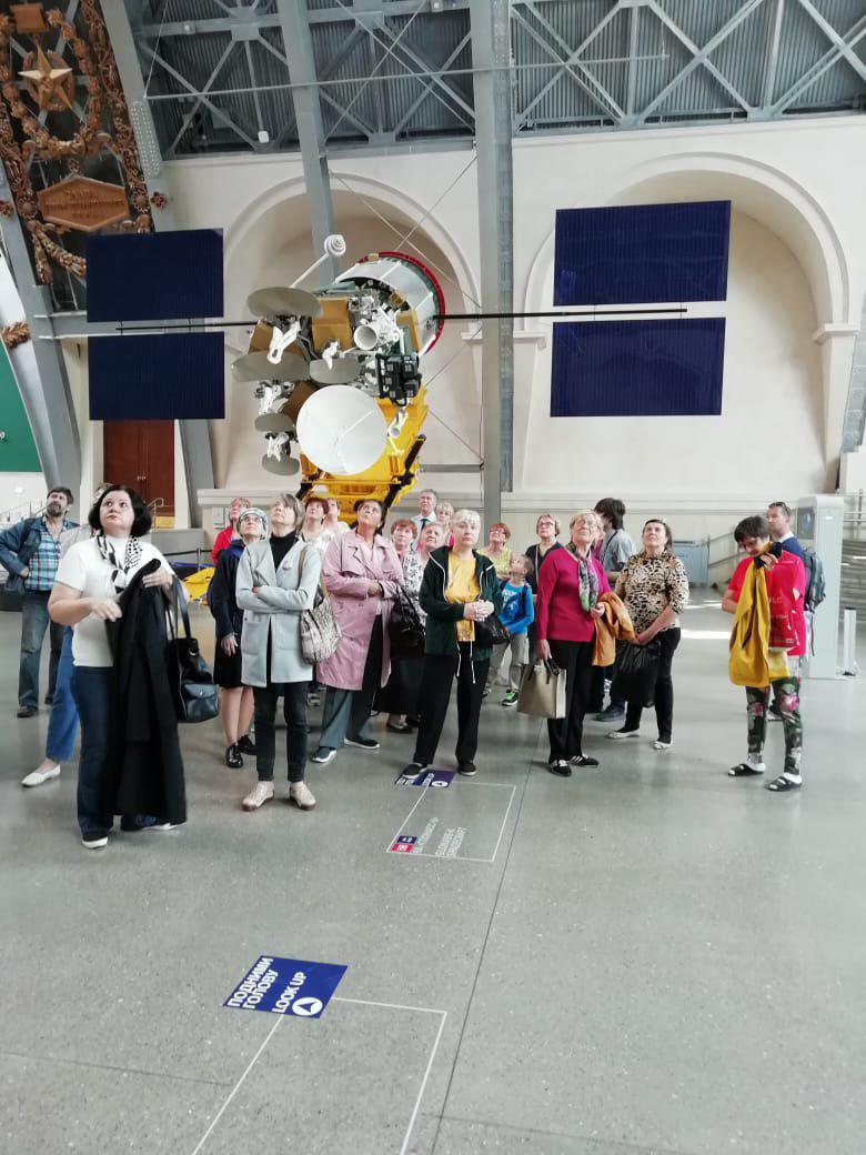 Участники проекта «Московское долголетие» из Некрасовки посетили Музей космонавтики