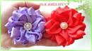 Канзаши Цветы из лент DIY Kanzashi Satin Ribbon Flowers Flor de fita de cetim Ola ameS DIY