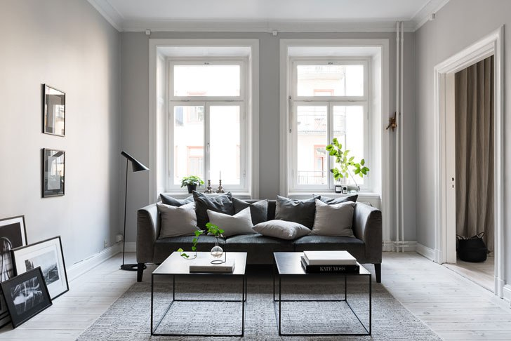 Безупречная шведская квартира (57 кв.