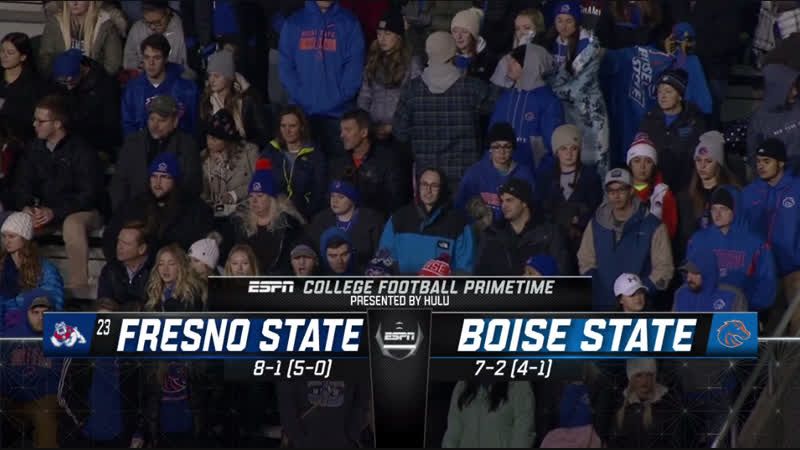 NCAAF 2018 / Week 11 / (23) Fresno State Bulldogs - Boise State Broncos / 2H / EN