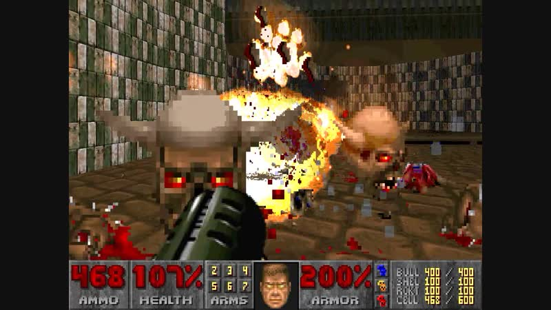 Doom 2 railgun gameplay