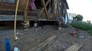 Поднять дом домкратами и заменить гнилые ряды самому - Часть 1- Начало