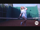 Kristy Leonie tennis training