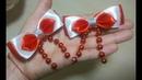 бантики канзаши быстро и просто satin ribbon bow decoration 緞帶蝴蝶結裝飾