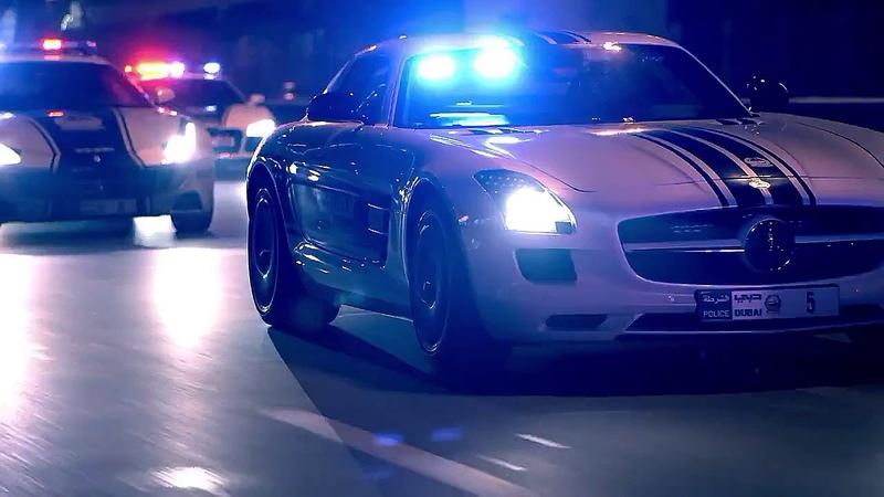 Дорогие машины полиции Дубая (промо ролик).