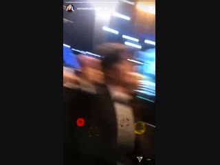 jungkook appears in anna kendrick's instastory video while she was recording drake's speec