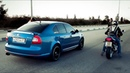 ПОЧЕМУ ЕЕ БОЯТСЯ Злая Skoda Octavia RS против БАЙКЕРОВ на Suzuki и Honda ЗЛАЯ ШКОДА ОКТАВИЯ