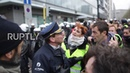 Belgium 'Yellow vest' protesters clash with police in Brussels