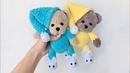 Мишка в пижаме крючком из плюшевой пряжи Подробный мастер класс Часть 1