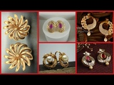 Top stylish light weight gold stud earrings styles for women's