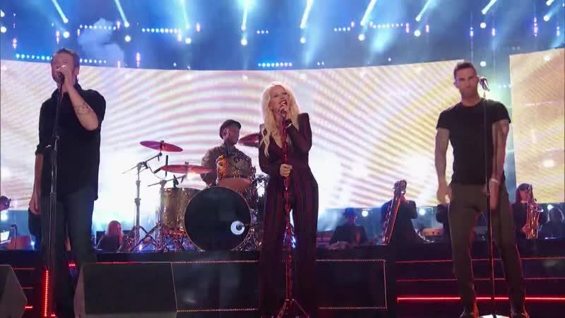 The Voice 2016 - Christina Aguilera, Adam Levine, Pharrell Williams and Blake Shelton_ I Wish