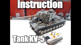 LEGO инструкция на танк КВ-5 . LEGO tank KV-5 on RC