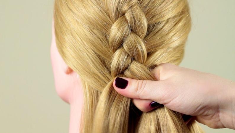 Французская коса Обратная. Basic french braid Reverse