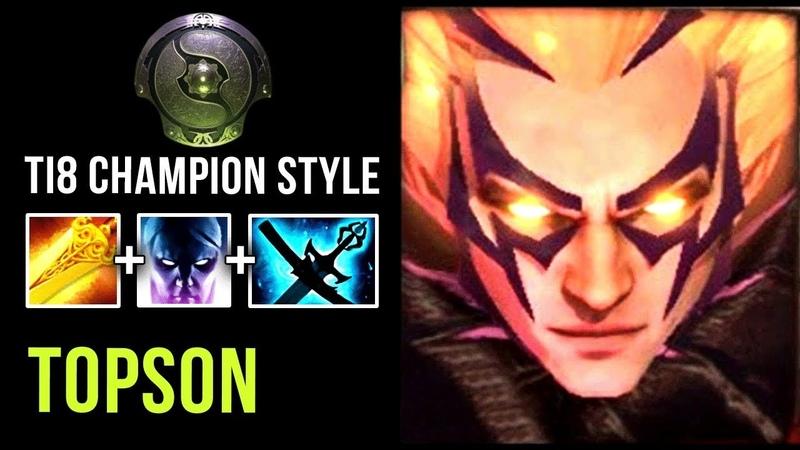 Topson TI8 Champion Style First Big Item Radiance New Meta Build?! - Dota 2