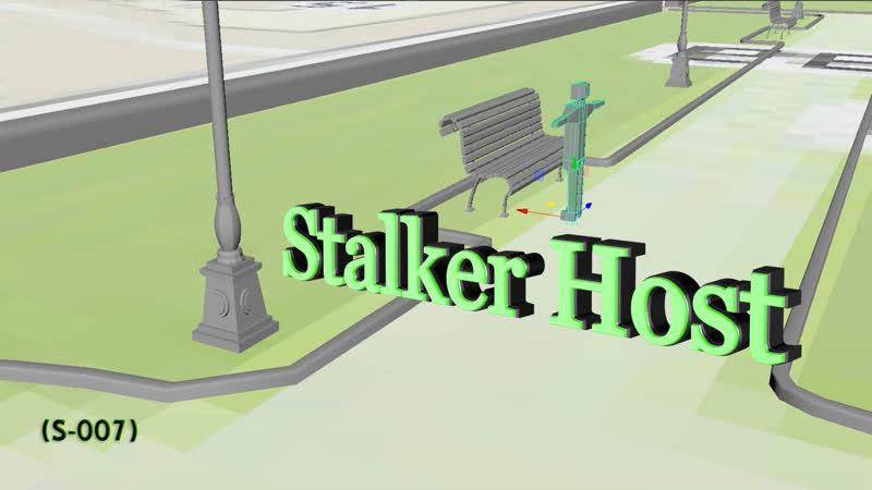 Stalker Host проект 3D (S-007)моделим сквер Магнитогорска