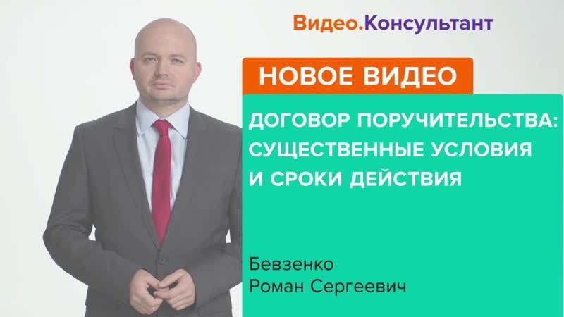 «Договор поручительства: существенные условия и сроки действия», Роман Бевзенко