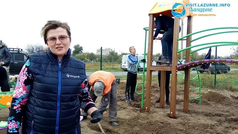 Установка дитячого майданчика на розі вул. Ювілейна-Металургів