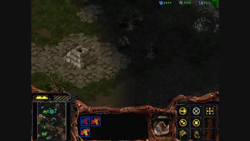 StarCraft: Inconsummate mission5 [4 уничтожение красной базы и штурм крепости]