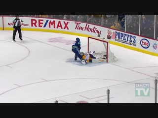 Elias Pettersson Scores His First Penalty Shot Goal vs Pekka Rinne (Dec. 06, 201