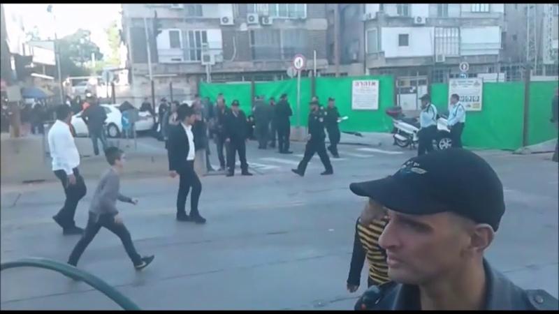 Peleg Protest In Bnei Brak