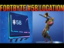 Fortnite Fortbyte 58 Accessible By Using The Sad Trombone Emote At The North End Of Snobby Shores