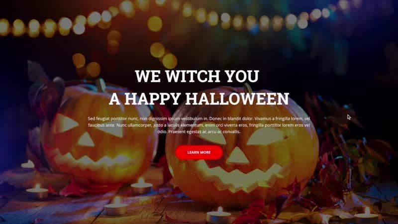 Halloween — новый шаблон для «Битрикс24.Сайты»