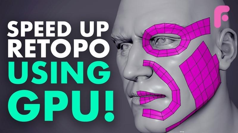 How to Speed up Retopo In Maya - GPU Trick!
