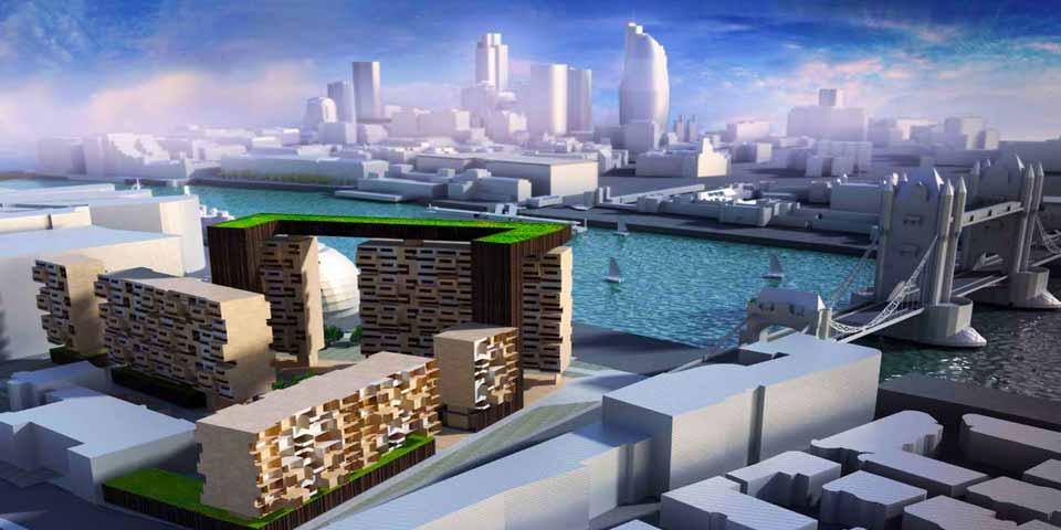 Большие здания могут быть построены с каменными полами для охлаждения в теплом климате.