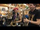 Leo P Eli Bennett Saxophone Funk Jam @ Winnipeg Folk Festival (2018)