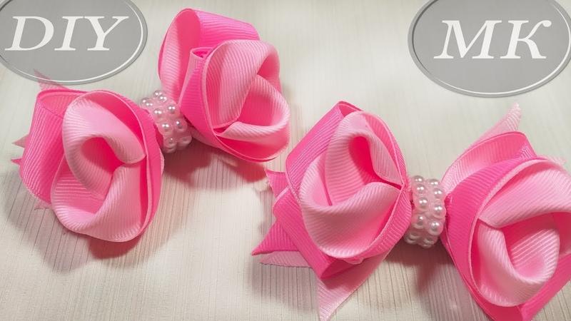 Бант из репсовой ленты 2,5 см МК 🎀 Bow grosgrain ribbon DIY 🎀 Laço Formoso com Fita numero 5
