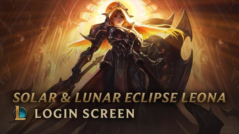 Solar Lunar Eclipse Leona Login Screen League of Legends