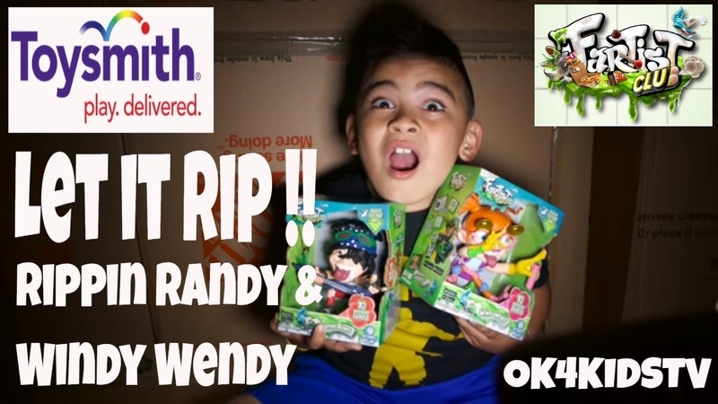 Toy Smith Toys- Fartist Club Toys- Rippin Randy and Windy Wendy ok4kidstv video 199