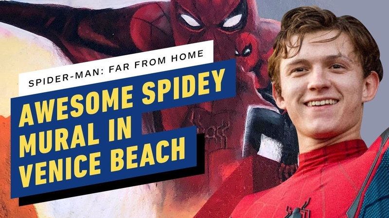 Spider Man Far From Home Collaborative Art Project in Venice Beach