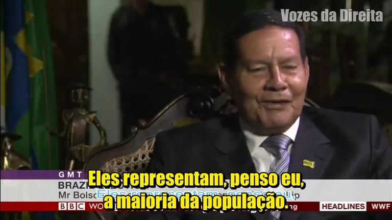 General Mourão dando entrevista para TV Americana! Ele se garante no inglês!