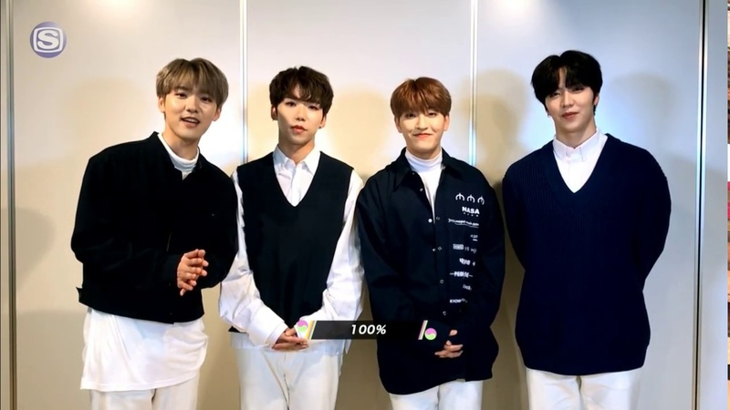 INTERVIEW 181213 100% 백퍼센트 's Comments @ Space Shower TV「KOREAN HITS RANKING」