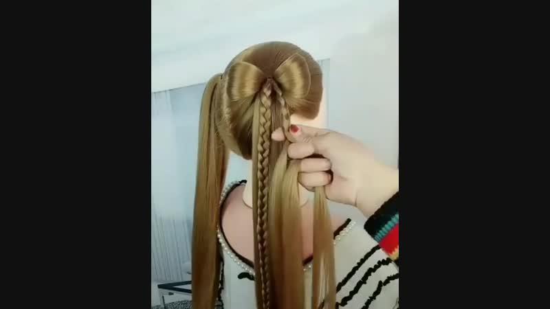 Идея для длинноволосых красавиц!