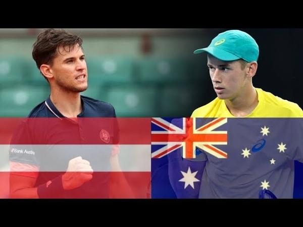 Dominic Thiem (AUT) vs Alex de Minaur (AUS) Highlights DAVIS CUP 2018