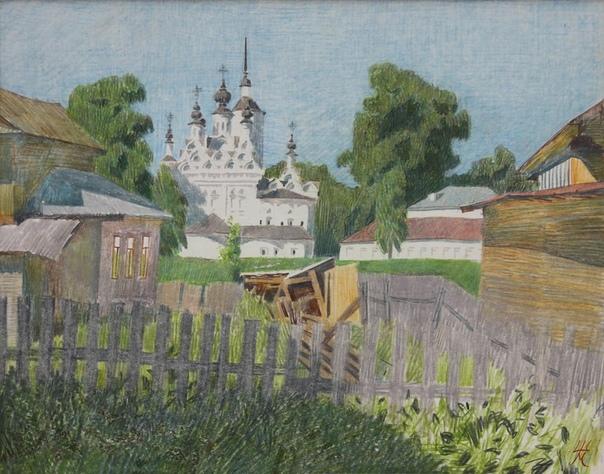 Матвей Брониславович Шабаев (род. 1968г). Цветной карандаш.
