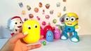Сюрпризы Шопкинс Большие Разноцветные Яйца Киндер Распаковка