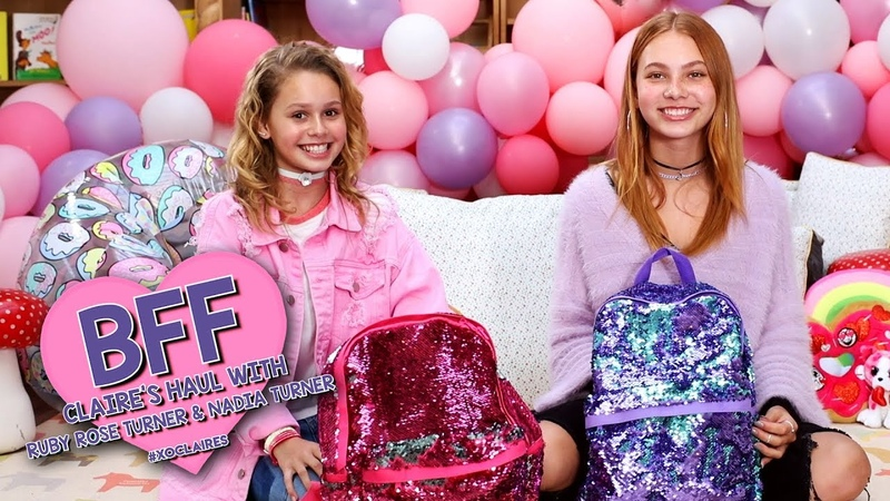 BFF Claire's Haul with Nadia Turner and Ruby Rose Turner xoClaires