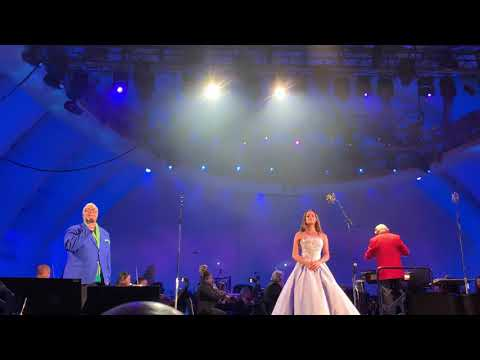 """Lea Michele Leo Gallo Ken Page Peter Gallagher sing If Only"""" Little Mermaid at Hollywood Bowl"""