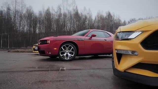 Mustang vs Challenger vs Camaro: американские легенды в России coub