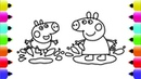 Peppa Pig Paintbox - Peppa Pig Chicken Coloring Pages | Cartoon Episodes 6 PeppaPig