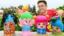 Play Doh çılgın saçlar yapıyoruz Poppy ilk müşterimiz