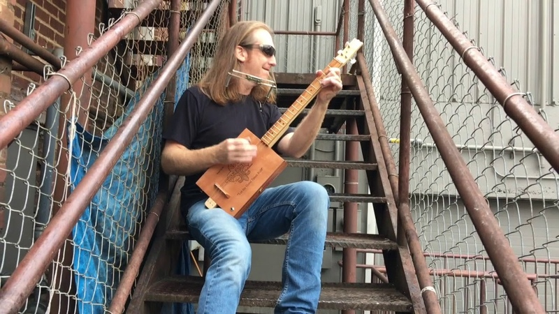 Working - Southern Cigar Box Guitar Thunder by Mike Snowden