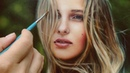 REALISTIC OIL PAINTING DEMO VIDEO - woman portrait by Isabelle Richard
