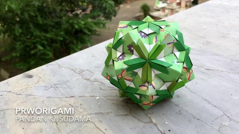 Pandan Kusudama - PrwOrigami Folding Tutorial